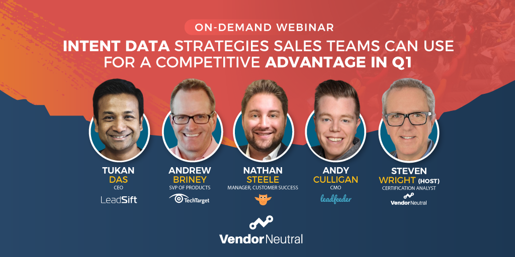 Intent Data Strategies Sales Teams Can Use On Demand Webinar Cover Image