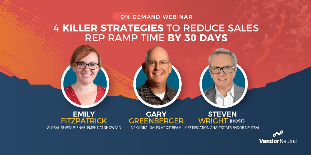 4 Killer Strategies to Reduce Sales Rep Onboarding Time On Demand Webinar Image