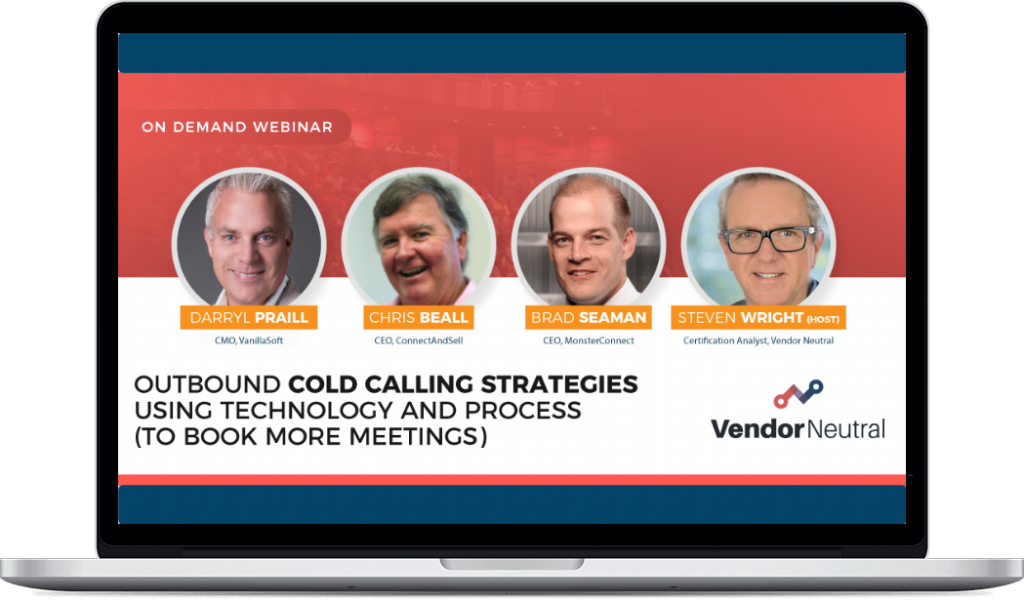 Outbound Cold Calling Strategies Webinar Macbook Image
