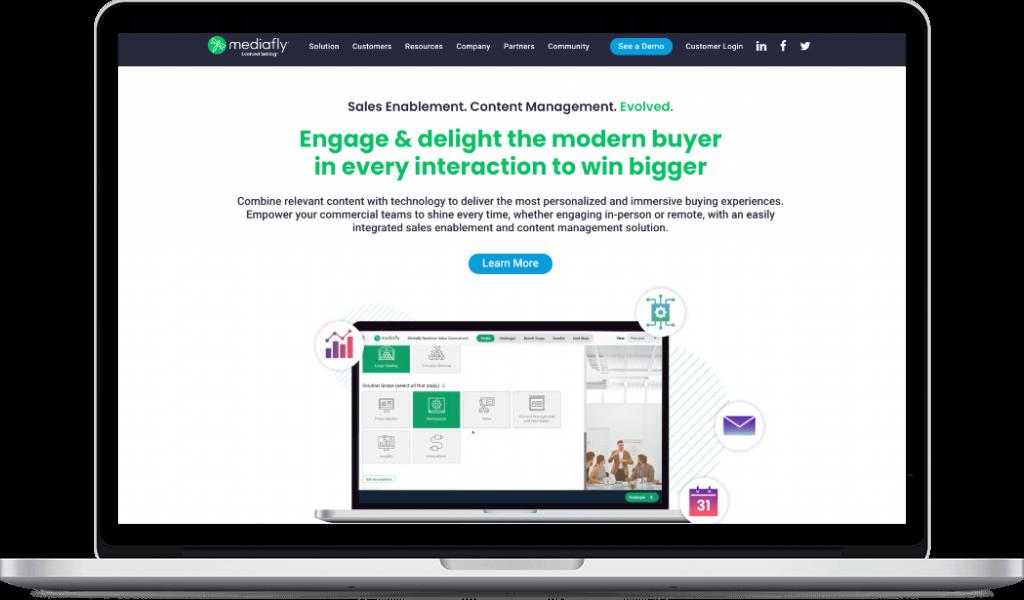 Mediafly Sales Enablement Content Management Website Macbook Image