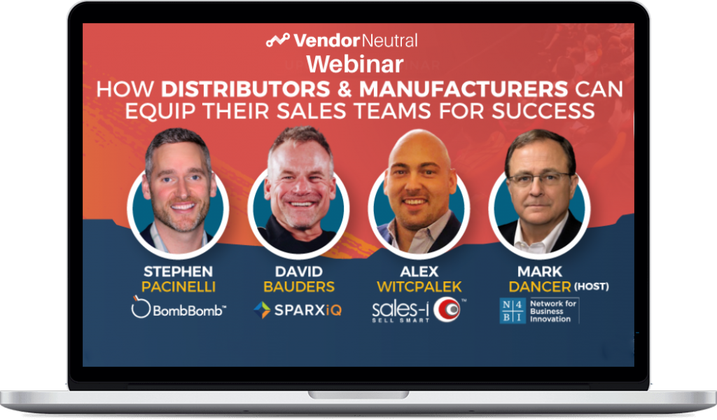 How Distributors and Manufacturors can equip their sales teams Webinar macbook image