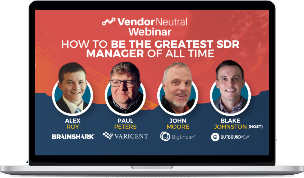 How To Be The Greatest SDR Manager of All Time