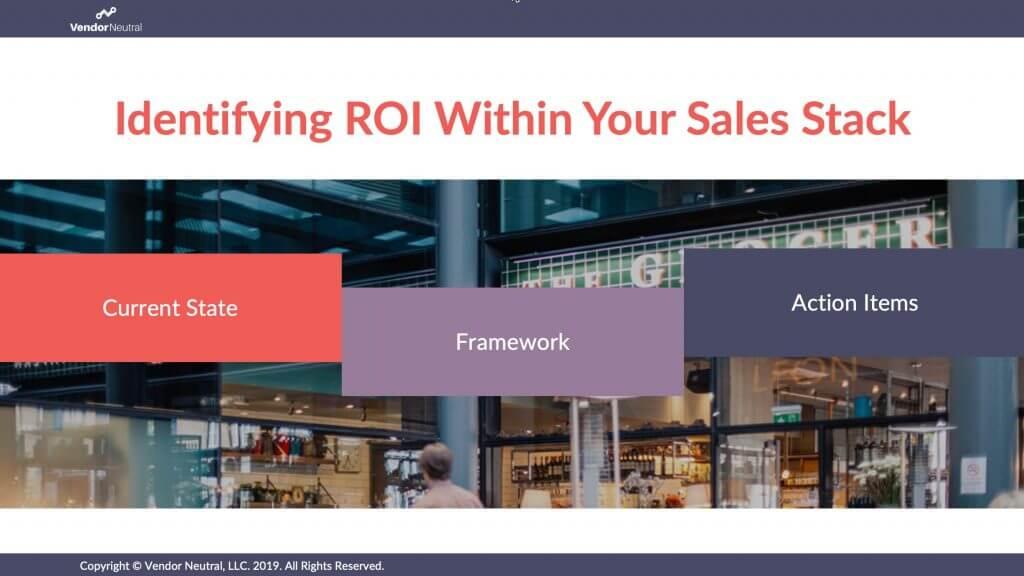 Identify ROI Sales technology workshop