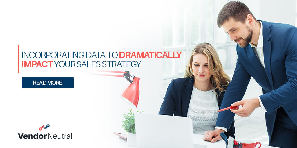The Power of a Data-Driven Sales Strategy blog image of man and woman looking at computer