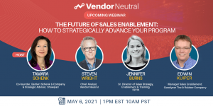 The Future of Sales Enablement Webinar Panel Image