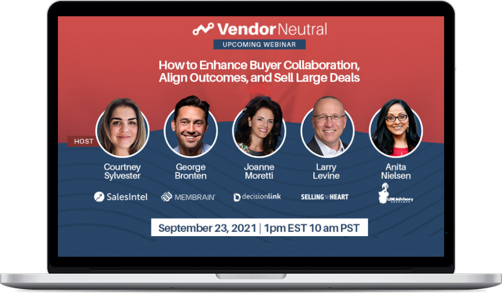How to Enhance Buyer Collaboration, Align Outcomes, and Sell Large Deals Macbook Image