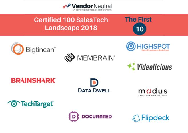 Vendor Neutral Announces First Ten SalesTech Vendors