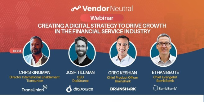 Digital Strategy to Drive Growth In The Financial Services Industry Webinar Cover Image