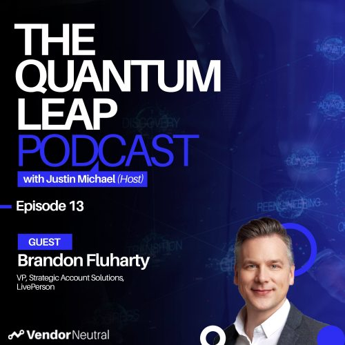 Quantum Leap 13: 3 Ways Sales Technology will Shape the Future of Strategic Selling & Enterprise Sales Podcast Cover
